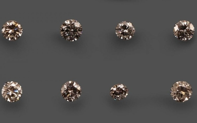 Seven Loose Round Brilliant Cut Diamonds, weighing 0.18, 0.20, 0.22,...