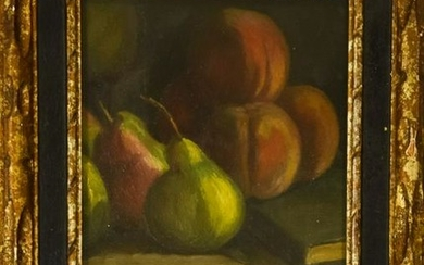 Signed Fruit Still Life Oil Painting