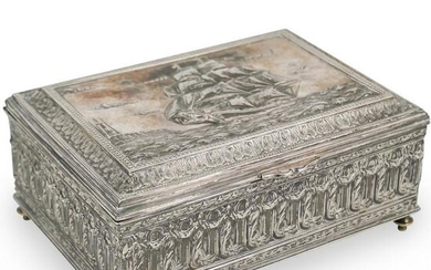 Silver Plated Nautical Box