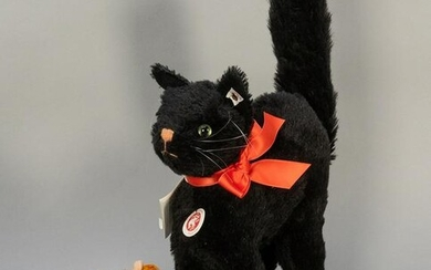 Steiff Black Cat and Scary Creatures Group. Scary and