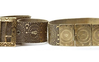 TWO OTTOMAN GILT SILVER MESH BELTS, TURKEY, 19TH