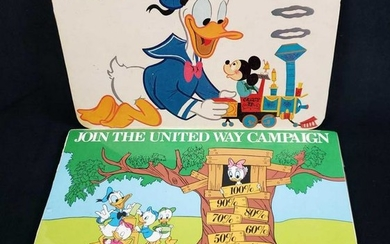 Vintage Walt Disneys Donald Duck and Mickey Mouse