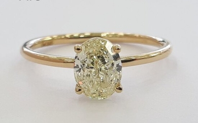 14 kt. Yellow gold - Ring - 1.16 ct Diamond