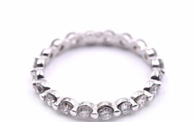 14k White Gold 1.43cttw Diamond Eternity Band