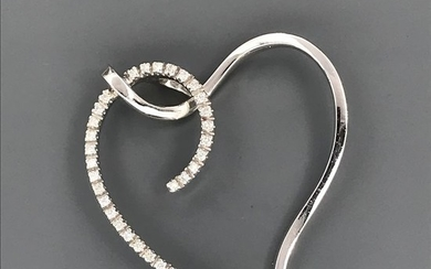 18 kt. White gold - Pendant - Diamonds