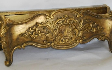 19thc Gilt Wood Gardern Planter