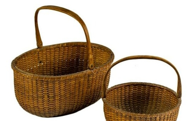 2 Early 20th C. Nantucket Style Lightship Baskets