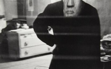 FAURER, LOUIS (1916-2001) George Barrows in Robert Frank's Loft, NYC