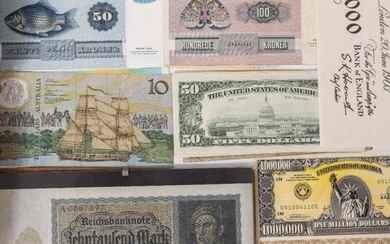 A COLLECTION OF BRITISH AND FOREIGN BANK NOTES to...