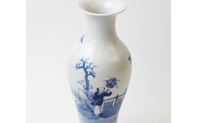 A Chinese blue and white begonia vase, 19th century, the vas...