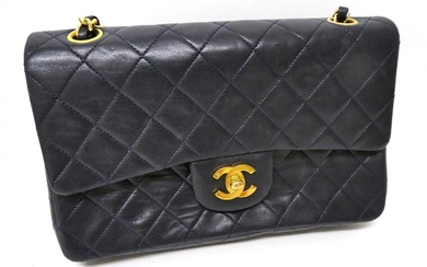 A Circa 1989-1991 Chanel Midnight Blue Quilted Lambskin Leather Handbag,...