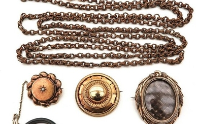 A Collection of Mourning Jewelry