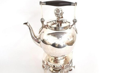 A DUTCH SILVER KETTLE-ON-STAND, DEN HAAG, 1891