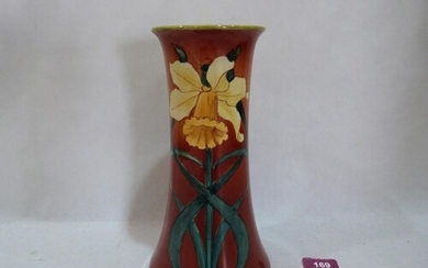 A Doulton Lambeth Faience tapered vase, decorated by Katheri...