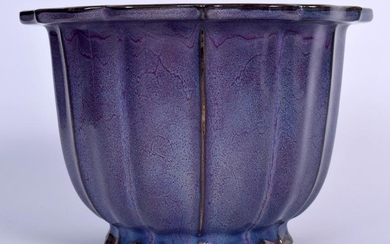 A GOOD 19TH CENTURY CHINESE JUNYAO GLAZED PORCELAIN