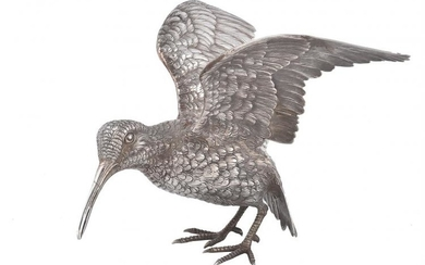A German silver model of a startled snipe by L. Neresheimer & Co.