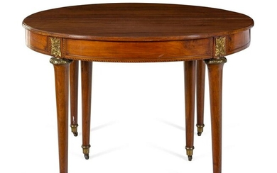 A Louis XVI Style Gilt Metal Mounted Walnut and