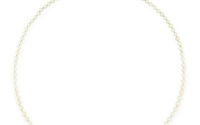 A PEARL AND DIAMOND NECKLACE comprising a