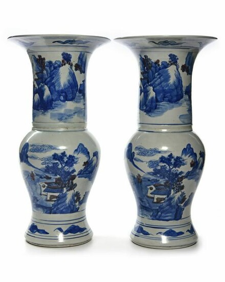 A PAIR OF CHINESE PHOENIX TAIL VASES, CHINA, 19TH-20TH