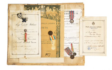 A SMALL COLLECTION OF MEDALS AND DOCUMENTS