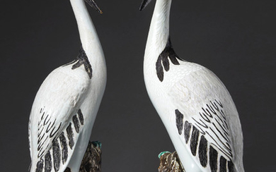 A VERY LARGE PAIR OF CRANES, QIANLONG PERIOD (1736-1795)
