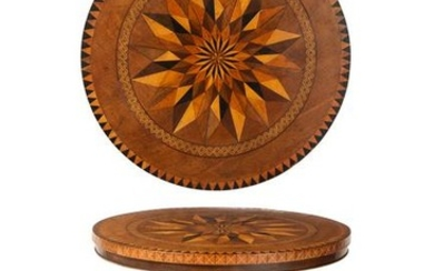 A William IV parquetry occasional table
