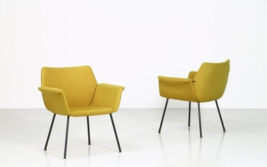 AUGUSTO BOZZI Pair of armchairs.