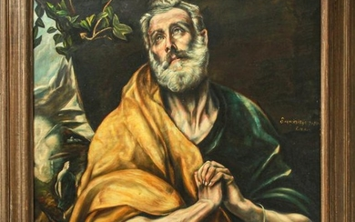 After El Greco The Tears of St Peter Oil on Canvas