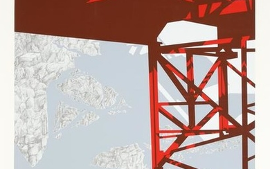 Allan D'Arcangelo, Red Bridge, Serigraph