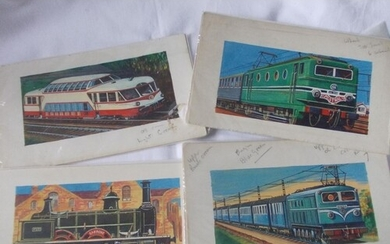 An interesting collection of original art work showing Frenc...