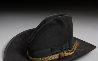 Antique Stetson hat with silver conchos