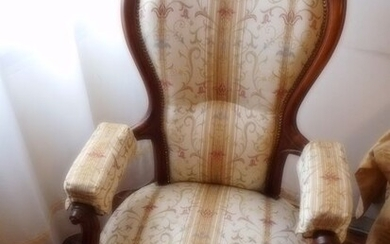 Armchair (1) - Louis Philippe - Wood - Late 19th century