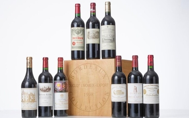 BOX BORDEAUX COLLECTION DUCLOT OF 9 BOTTLES including