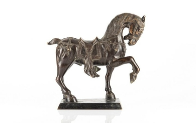 BRONZE SCULPTURE OF A HORSE