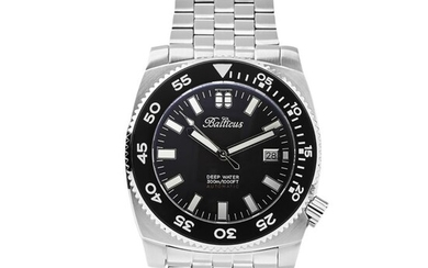 Balticus - Automatic Deep Water Collection Black Dial Stainless Steel Limited Edition plus 3 EXTRA STRAPS - Deep Water Black - Men - Brand New