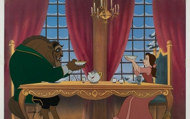 Belle and Beast limited edition cel from Beauty and the