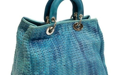 CHRISTIAN DIOR 'SOFT LADY DIOR' LEATHER TOTE BAG