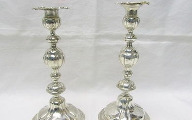 Candlestick - .925 silver - Barcelona - Spain - mid 19th century