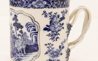 Chinese 18th Cent. Export Tankard Porcelain Mug