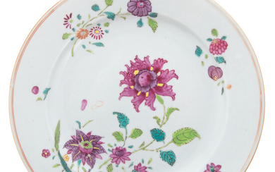 Chinese Export Famille Rose Plate