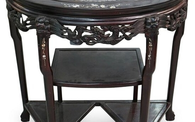Chinese Rosewood and Mother of Pearl Inlaid Table