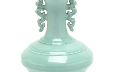 Clair De Lune Glazed Bottle Vase.
