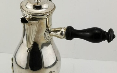 Coffee pot, Coffee or Chocolate Pot on Three Feet (1) - .950 silver - France - Late 18th century
