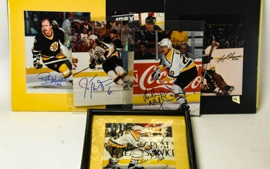 Collection of Boston Bruins Autographed Photos