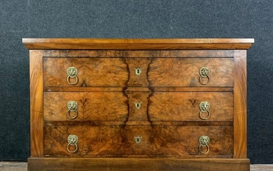 Commode - Empire - Bronze (gilt), Walnut - Early 19th century with later alterations