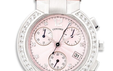 Concord, Ref. 14.C5.1891.S A lady's fine and attractive stainless steel and diamond-set chronograph wristwatch with date