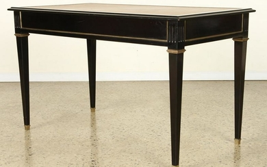 EBONIZED BRONZE TRIM WRITING TABLE MANNER JANSEN