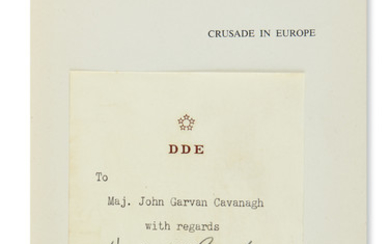 EISENHOWER, DWIGHT D. Crusade in Europe. With his bookplate Signed (detached from half title and laid in).