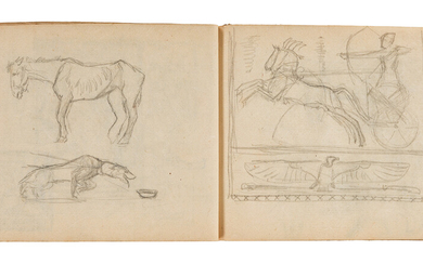 FREDERICK G R ROTH Sketchbook with approximately 125 pencil