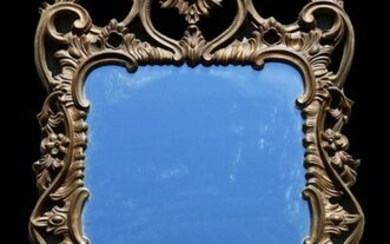 "FRENCH 38"" ANTIQUE GILT MIRROR"